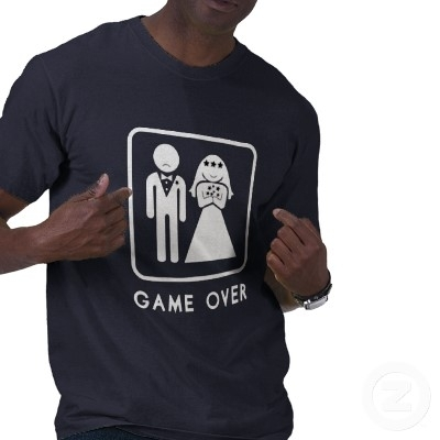 photo of Cheeky Bachelor Party T-Shirt for the Groom: GAME OVER!