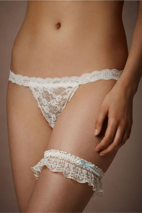 Lacey Garter with a Something Blue Bow