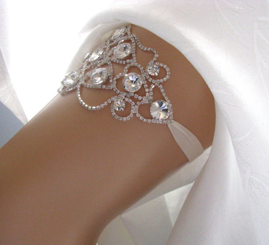 Crystal and Rhinestone Garter