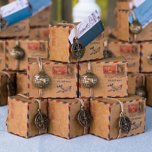 Wedding Favor Inspiration - Weddingstar Vintage Airmail Favor Box Kit