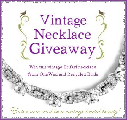 Win this stunning vintage Trifari bridal necklace! Just become a Recycled Bride member, and comment