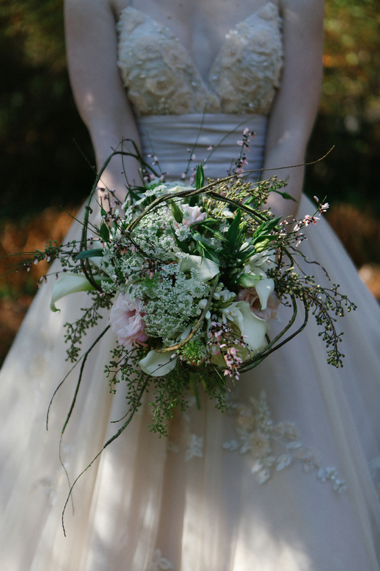 Beautiful Overgrown Bridal Bouquet