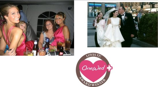 photo of OneWed loves casual wedding photographs, including those with beautiful bridesmaids in pink dresses