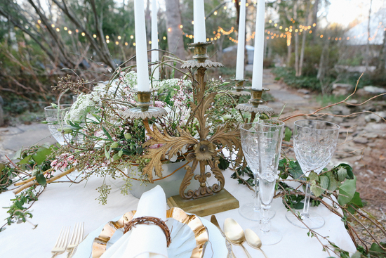 Candelabra and Floral Reception Centerpieces