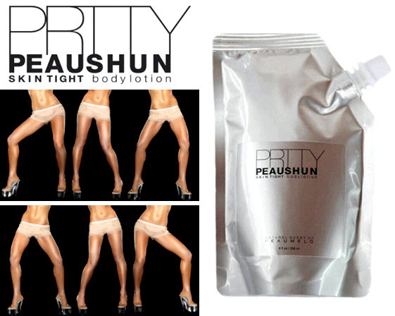 To get that to-die-for Victoria's Secret glow, try Prtty Peaushun Skin Tight Body Lotion