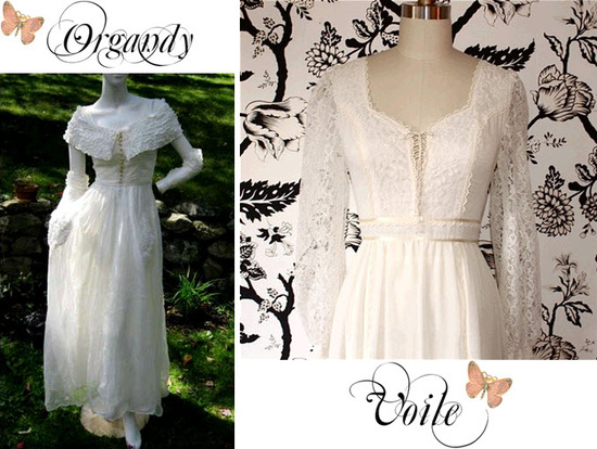 Light and airy Organdy and Voile cotton wedding dresses with a Bohemian vibe