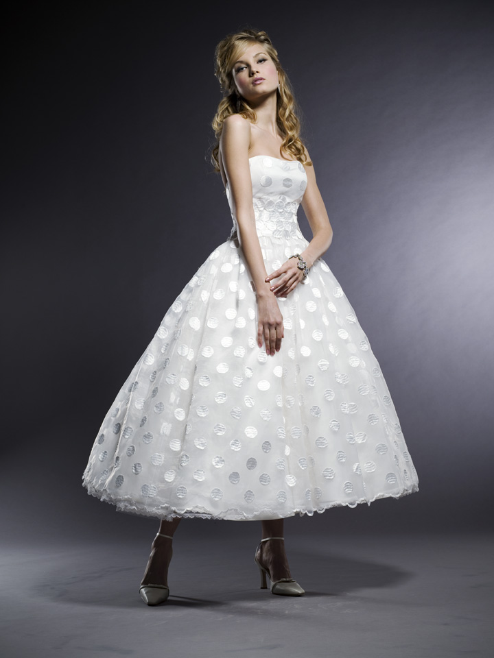 Cotton-wedding-dresses-retro-strapless-with-white-polka-dot-design-tea-length-ball-gown.original