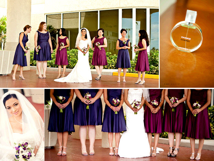 Bridesmaids-wear-deep-burgundy-and-concord-grape-bridesmaids-dresses-hold-lovely-purple-ivory-floral-bouquets.full