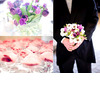 Purple-tulips-wedding-reception-table-centerpiece-groom-holds-brides-bouquet.square
