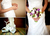 Bride-in-white-beaded-wedding-dress-holds-rosary-open-toe-white-satin-bridal-heels-rhinestones-beautiful-bridal-bouquet.square
