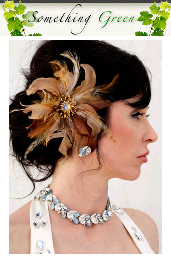 Refashioned bridal accessories are vintage chic and eco-friendly!