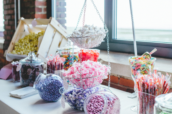 Bright and Colorful Reception Candy Bar