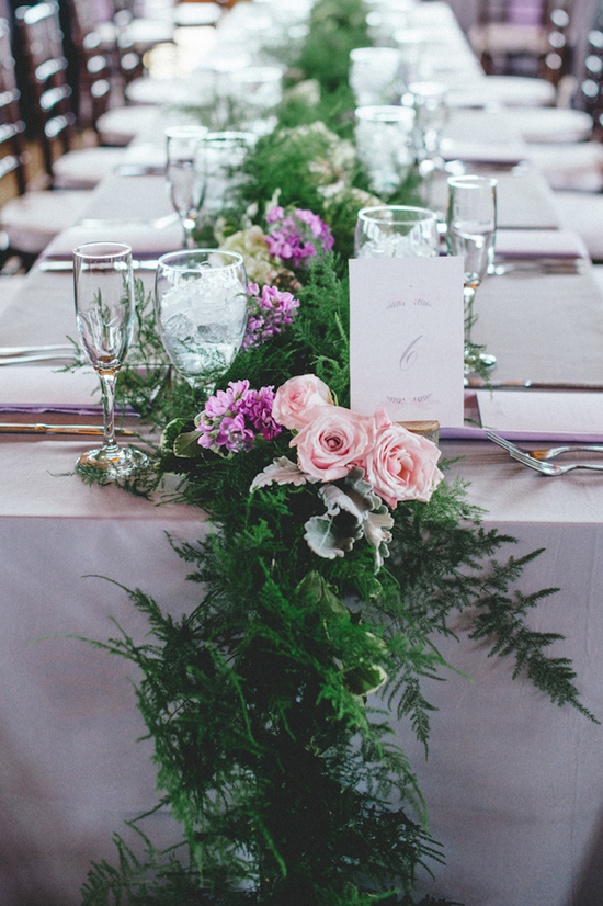 Beautiful Garden Inspired Reception Table Centerpieces