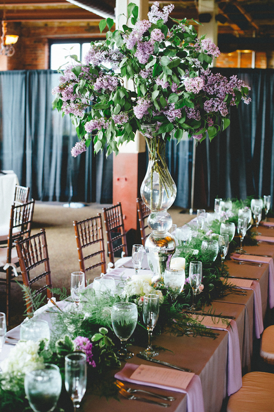 Reception Table Floral Arrangements
