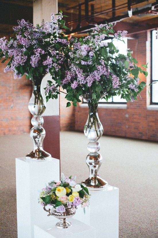 Gorgeous Floral Displays on White Pedestal