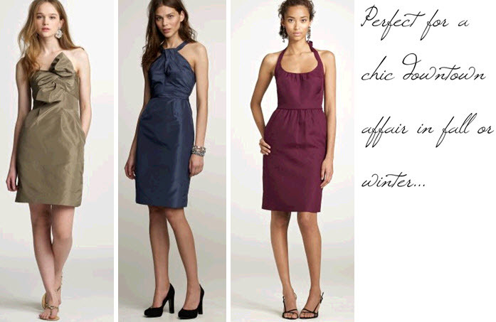 Bridesmaids-dresses-copper-taupe-midnight-blue-maroon-chic-city-wedding.full