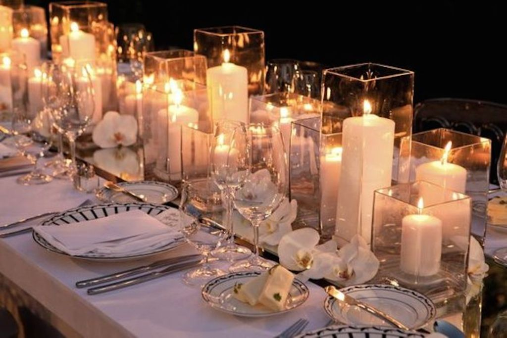Wedding Centerpieces Using Hurricane Vases Vase And Cellar Image