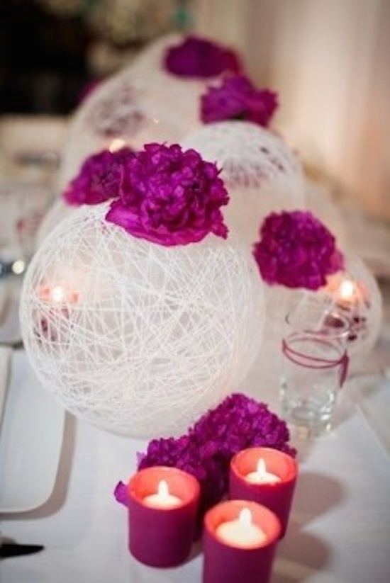 Modern Yarn Ball Centerpieces