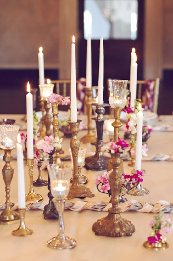 Vintage Inspired Candle Centerpieces