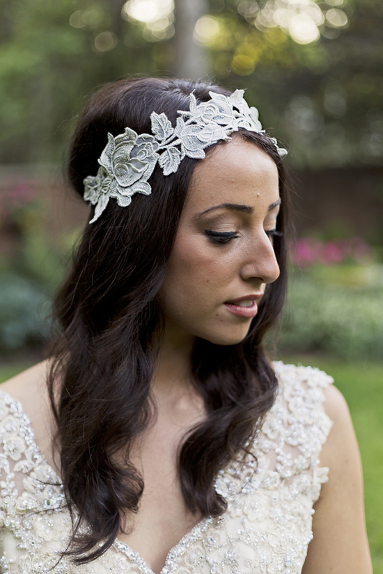 Beautiful Bride with a Nature Inspired Headband