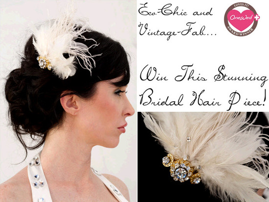 photo of Win this one-of-a-kind vintage hair accessory from Renee Pawele's new Eco Collection!