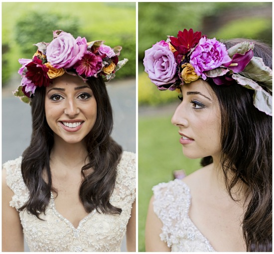 Shades of Purple Flower Crown