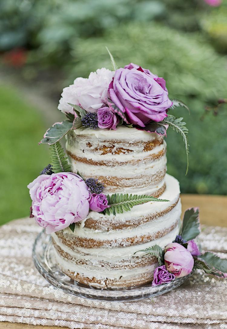 Nashville Sweets   Naked Wedding Cake with Fresh Flowers
