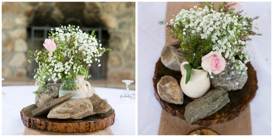 Sweet Country Chic Centerpieces