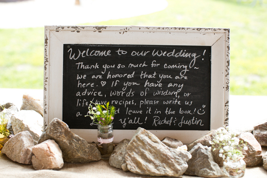 Shabby Chic Chalkboard Sign