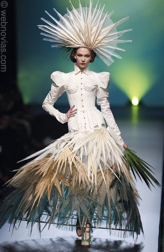 This haute couture dress from Jean Paul Gaultier may be better suited to the runway than the bridal