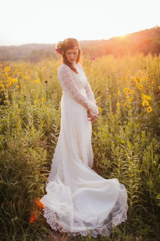 photo of Something Borrowed: Her Mother's Wedding Dress