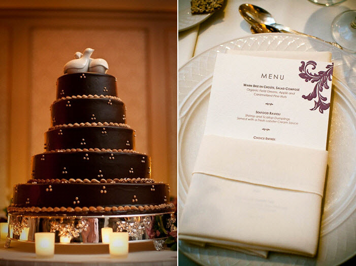 Chocolate-brown-regal-wedding-cake-with-lovebirds-cake-topper.full