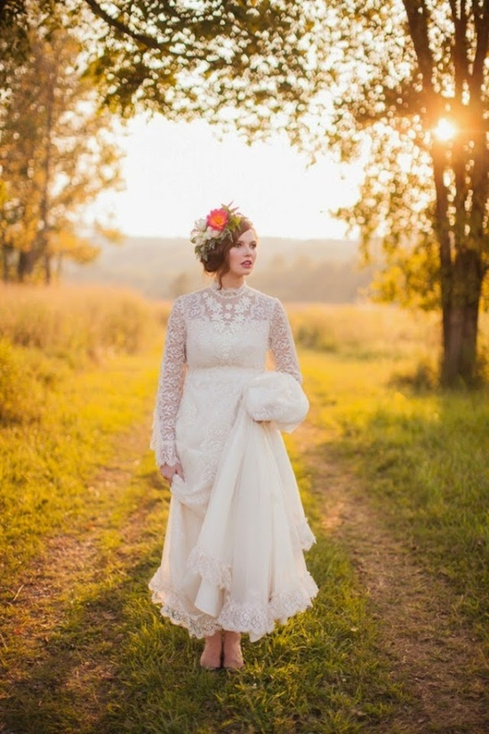 Stunning Bride in a Gorgeous Lace Gown