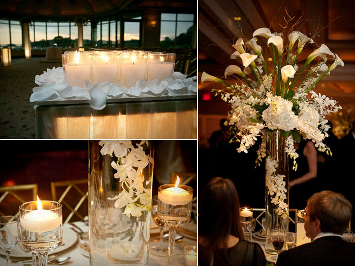 Romantic-candlelit-wedding-reception-on-the-water-white-candles-wedding-decor-tablescape-white-floral-centerpieces.full