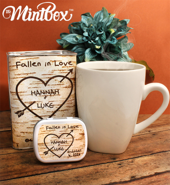 Fall Birchwood Country Wedding Cocoa and Mint Tins