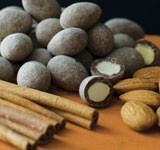 Cinnamon Dusted Chocolate Almonds
