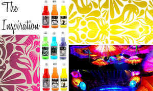 photo of Go Retro Miami Cool With A Black And Neon Wedding Color Palette!