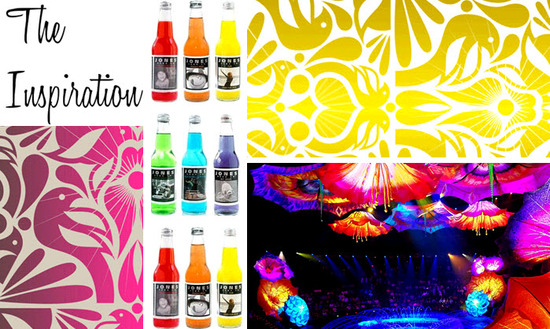 Retro black and neon wedding color palette is cheerful. fun, and quirky