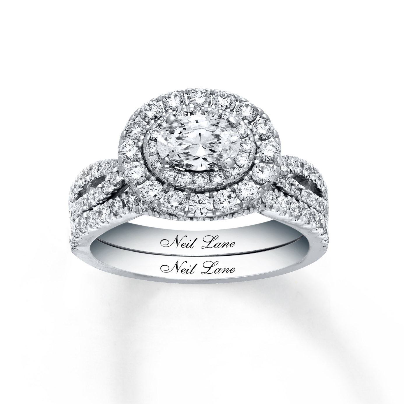 gorgeous diamond engagement ring with east to west setting and double halo fr