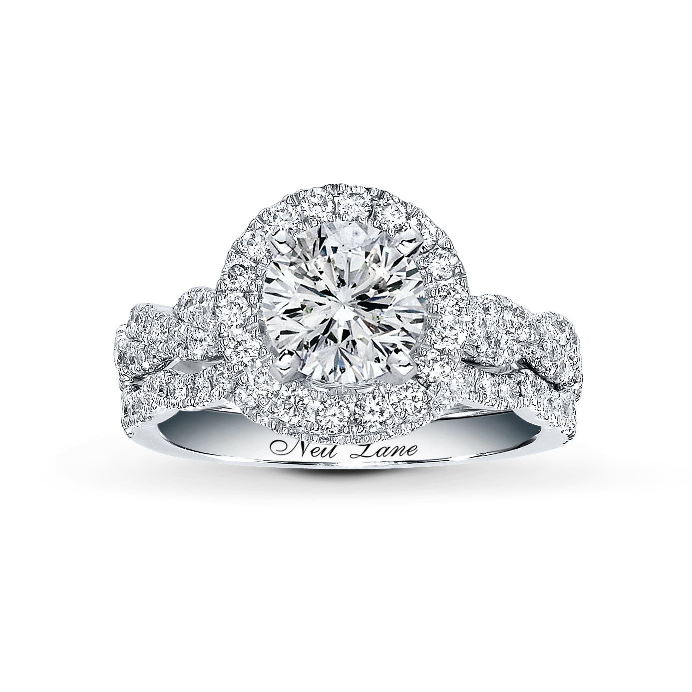 Super Beautiful Halo Diamond Engagement Ring with Jared