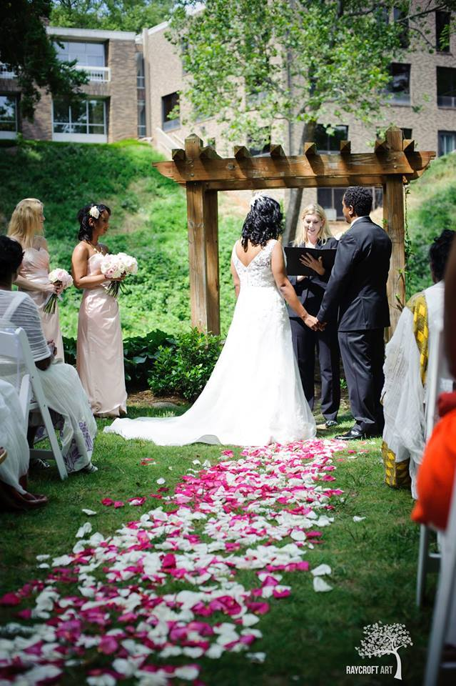 Danielle M Baker The Wedding Lady Officiant And Minister Old Mill Garden Greenville Sc