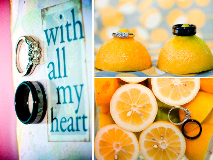 Diamond-engagement-ring-black-grooms-wedding-band-yellow-lemons-ring-shots.full
