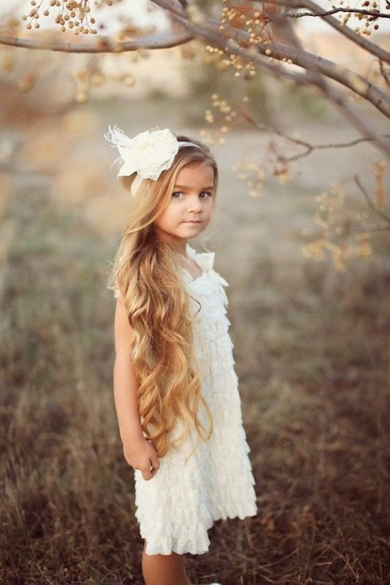Amazingly Sweet Flower Girl with Ruffled Dress