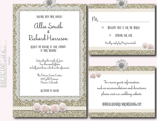The Boho Glam Invitation Collection Set