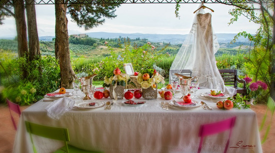 picture perfect outdoor wedding in Tuscany, Italy