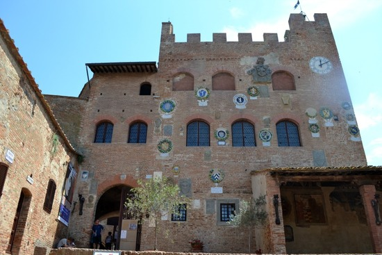 Medieval Town Hall of Certaldo, Tuscany, Italy