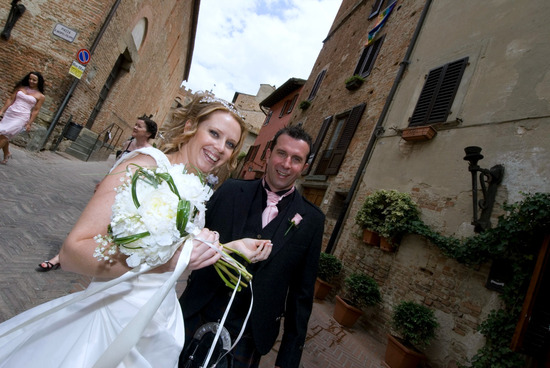 Civil wedding ceremony  in Certaldo,Tuscany