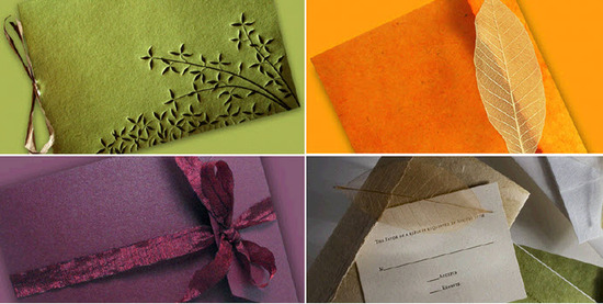 Beautiful recycled and sustainable wedding paper from InviteSite