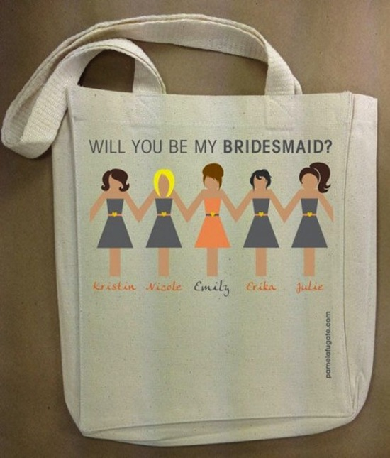 Tote Bag with Bridal Party