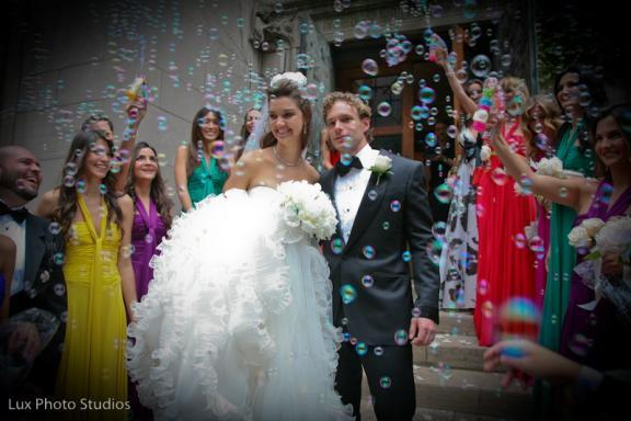 Brazilian Model allowed bridesmaids to wear the bright color of her choice for this chic downtown NY